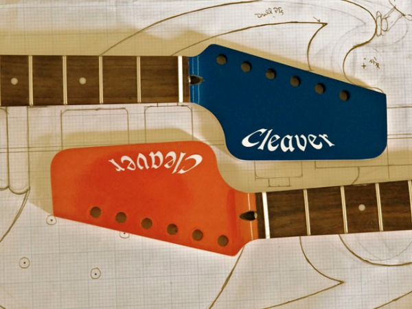 Cleaver Guitar headstock